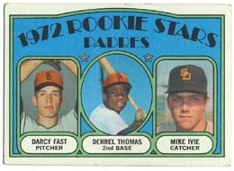 1972 Topps Baseball Cards      457     Darcy Fast/Derell Thomas/Mike Ivie RC